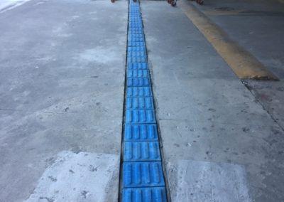 Instalação de piso Tátil em Concreto